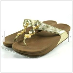 Fitflop Petra Women's Sandals Size 10 Snake Print